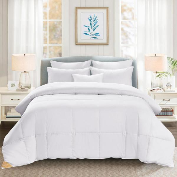 Heavy Weight White Full/Queen White Goose Down Comforter