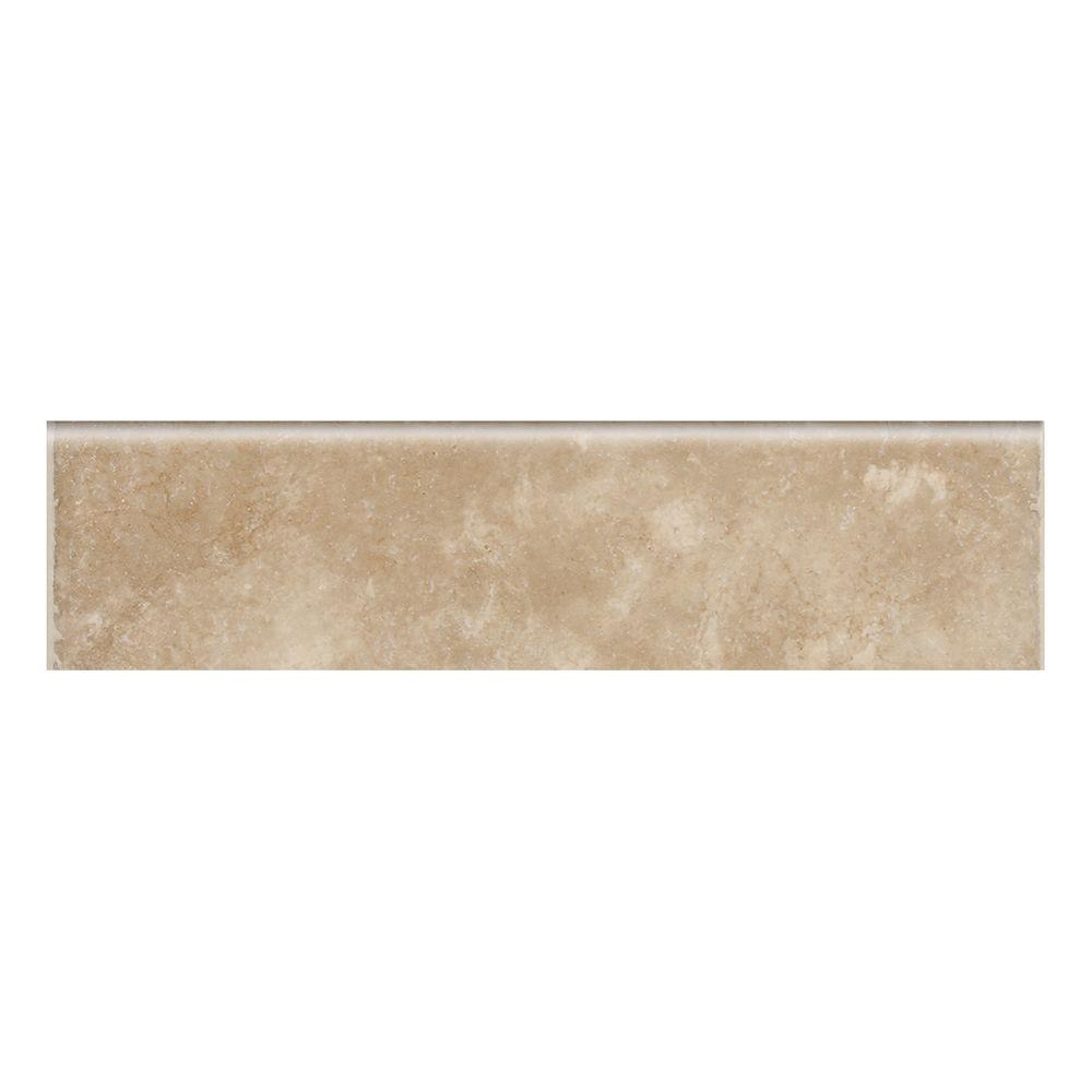 Catalina Canyon Noce 3 in. x 12 in. Porcelain Bullnose Floor