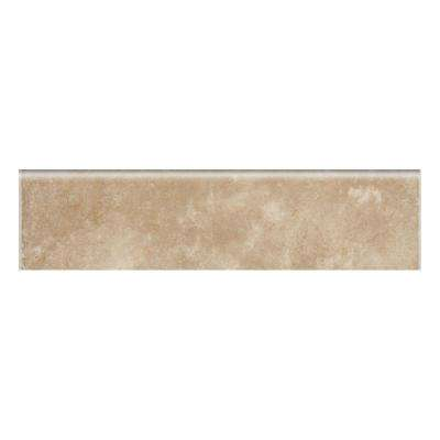 Catalina Canyon Noce 3 in. x 12 in. Porcelain Bullnose Floor and Wall Tile