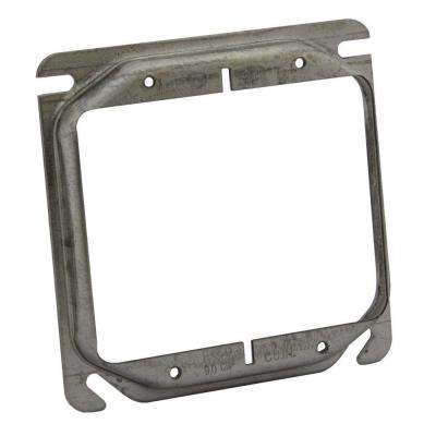 4 in. x 1/2 in. Raised Square 2-Device Mud Ring