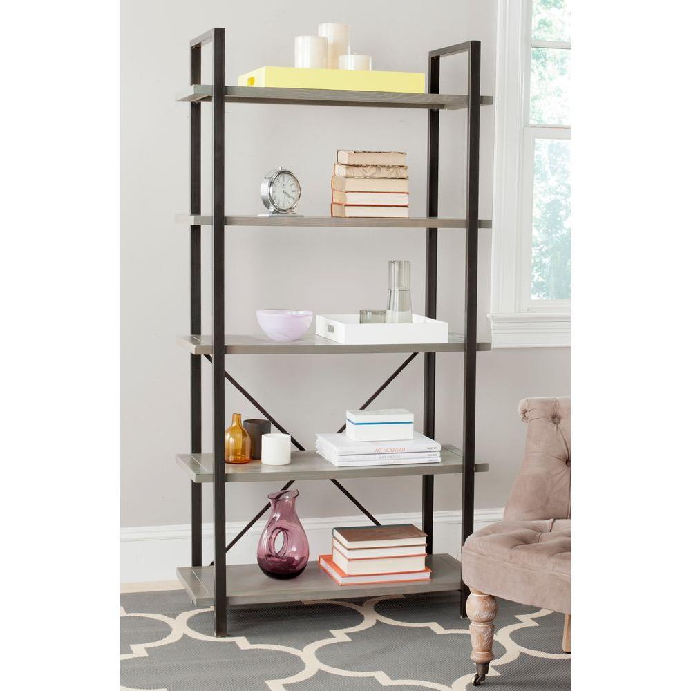 Chantel Ash Gray Open Bookcase