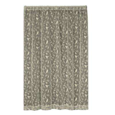 Bristol Garden Caf Lace Curtain 60 in. W x 84 in. L