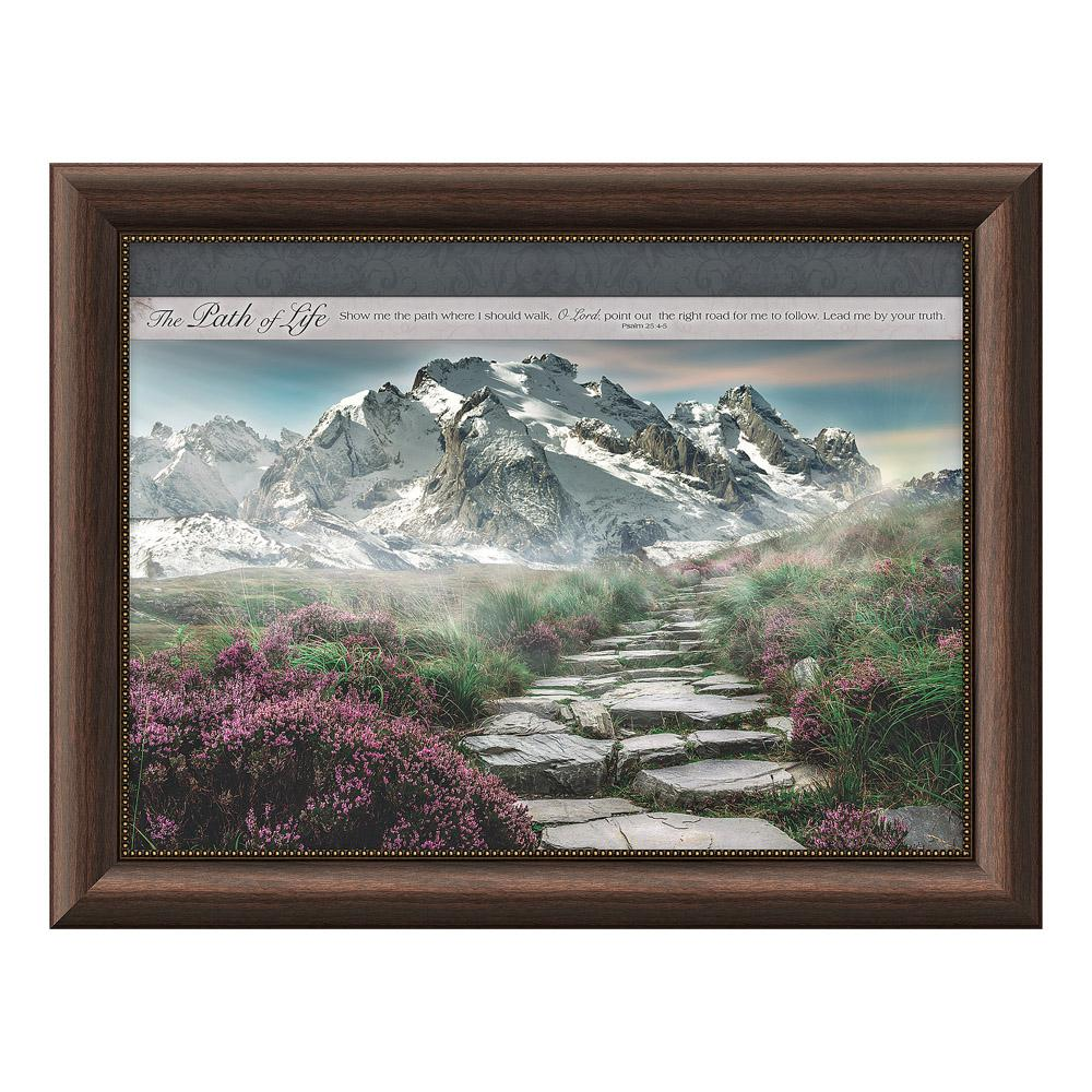 Peaceful places the path of life by carpentree framed wall art 46549 the home depot