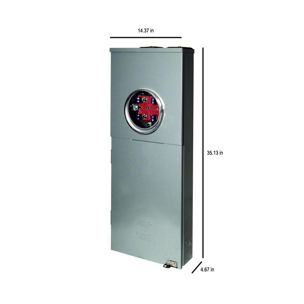 Main Breaker Square D Homeline 200 Amp 20-Space 40-Circuit Outdoor Ring-Type