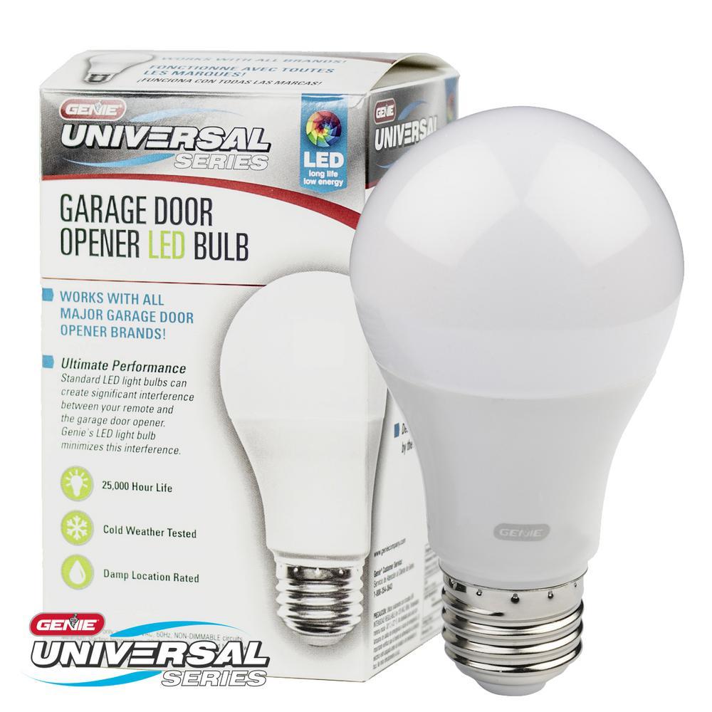 Genie Universal Garage Door Opener Led Light Bulb Gledb2 R The Home Depot