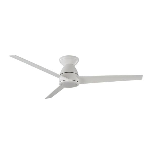 Modern Forms Tip Top 52 In Led Indoor Outdoor Matte White 3 Blade Smart Flush Mount Ceiling Fan With Light Kit And Remote Control Fh W2004 52l Mw The Home Depot