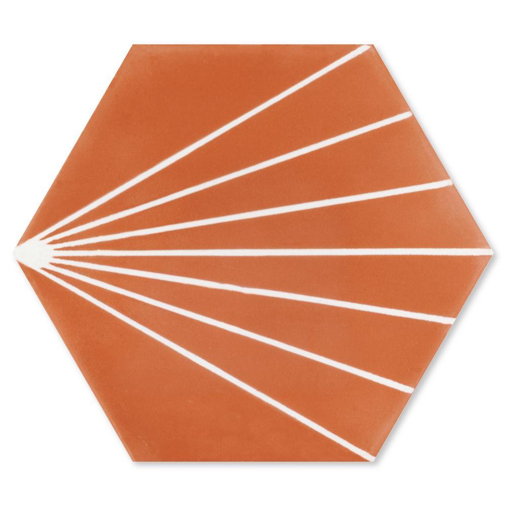 Villa Lagoon Tile Spark C Tangerine 8 In X 9 In Cement