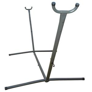 steel universal hammock stand in charcoal