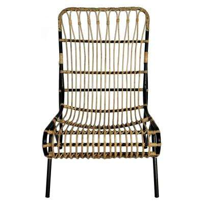 37.25 in. Brown Metal Chair