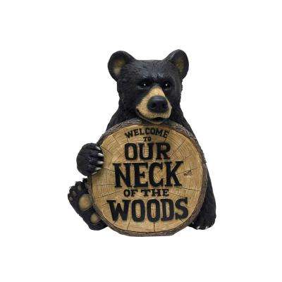 17.4 in. Welcome to Our Neck of the Woods Bear Statuary