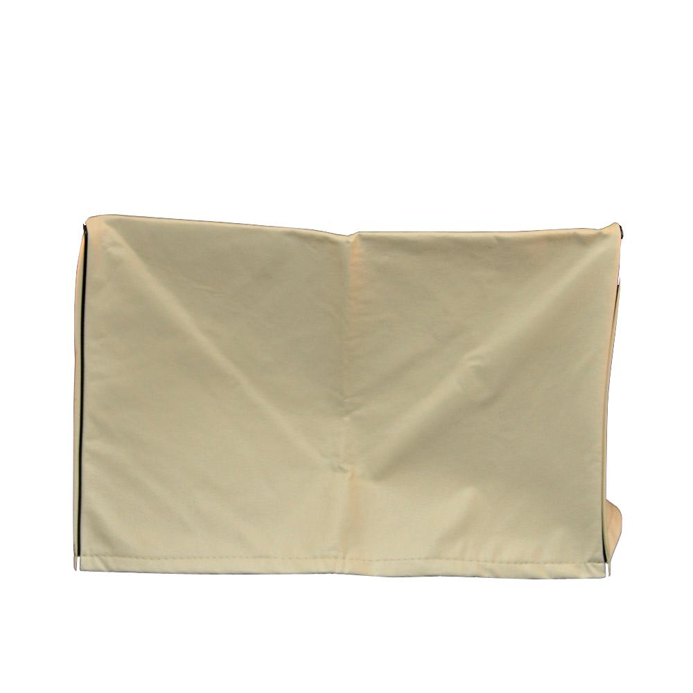 AC-Safe Medium Air Conditioner Exterior Cover, Beige/Bisque This AC-Safe Medium Air Conditioner Exterior Cover is ideal for protecting your air-conditioning unit from the elements. It's made of a heavy-duty, automotive-grade vinyl with a fleece lining. Open bottom accommodates support brackets and provides protection from winter weather. Color: Beige/bisque.