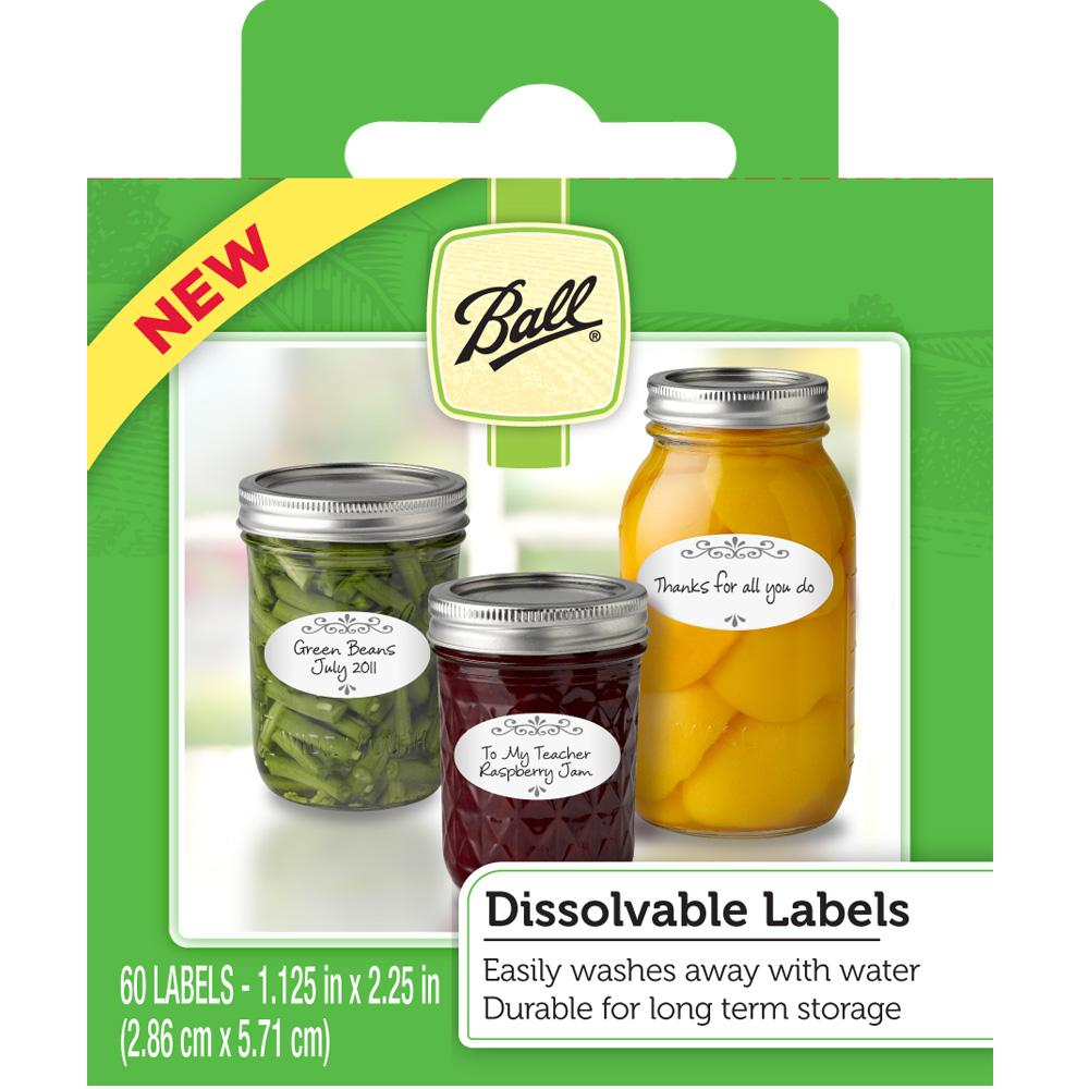 Ball Dissolvable Labels (60-Count)