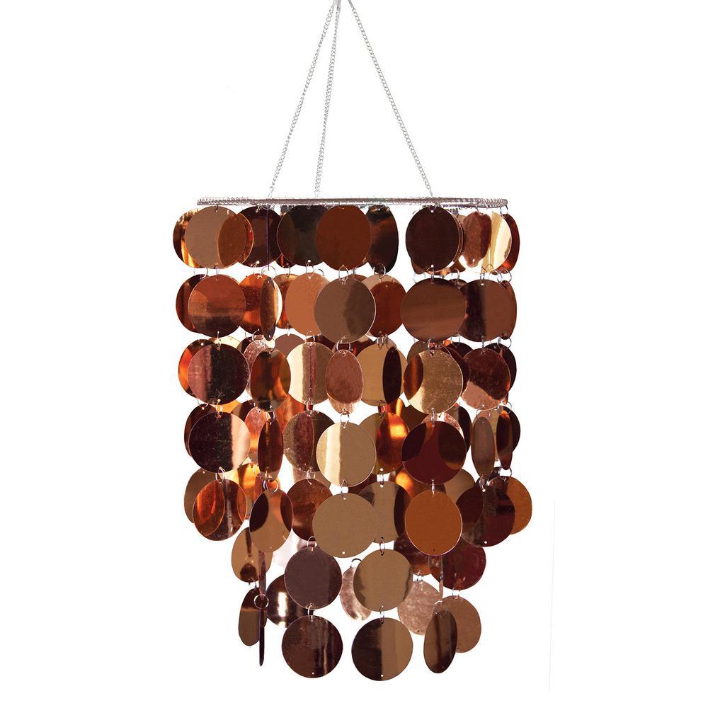 26.5 in. x 10.25 in. Copper Eclipse Chandelier