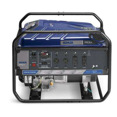 6,400-Watt Gasoline Powered Recoil Start Portable Generator with Command PRO Commercial Engine
