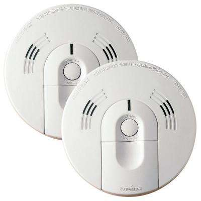 Battery Operated Smoke and Carbon Monoxide Combination Detector with Voice Alarm and Intelligent Hazard Sensing (2-pack)