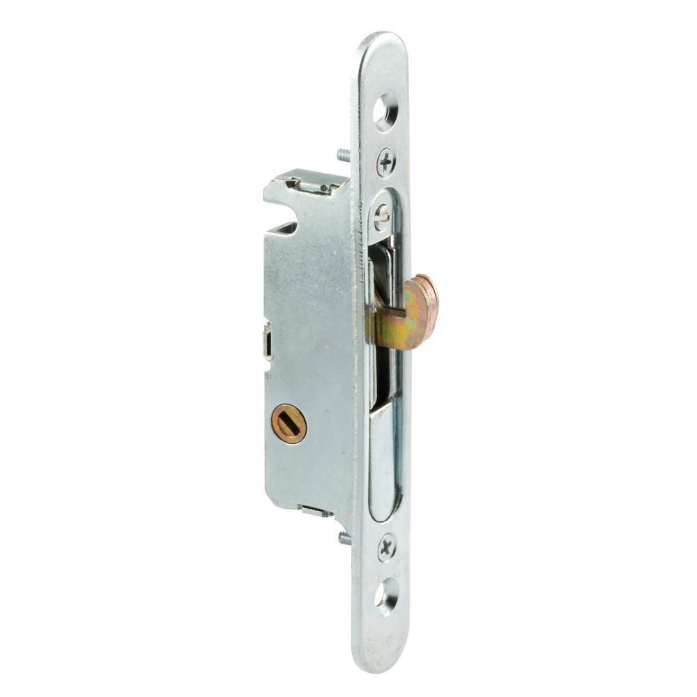 4-5/8 in., Steel, 45 Degree Keyway Rounded Faceplate Mortise Lock