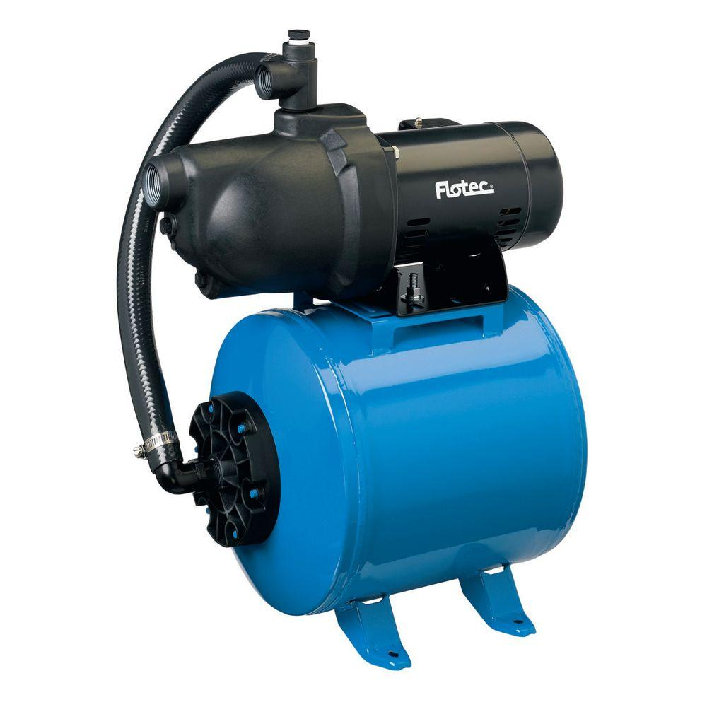 Flotec 1/2 HP Shallow-Well Jet Pump Composite Tank System