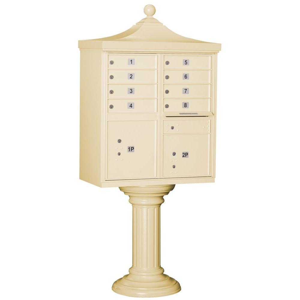 Salsbury Industries Regency Decorative 8-Compartment Post-Mount Cluster Box Unit