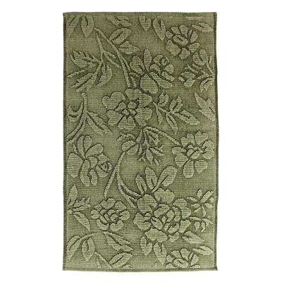 Branson Stonewashed Floral Lint Green 2 ft. x 4 ft. Area Rug