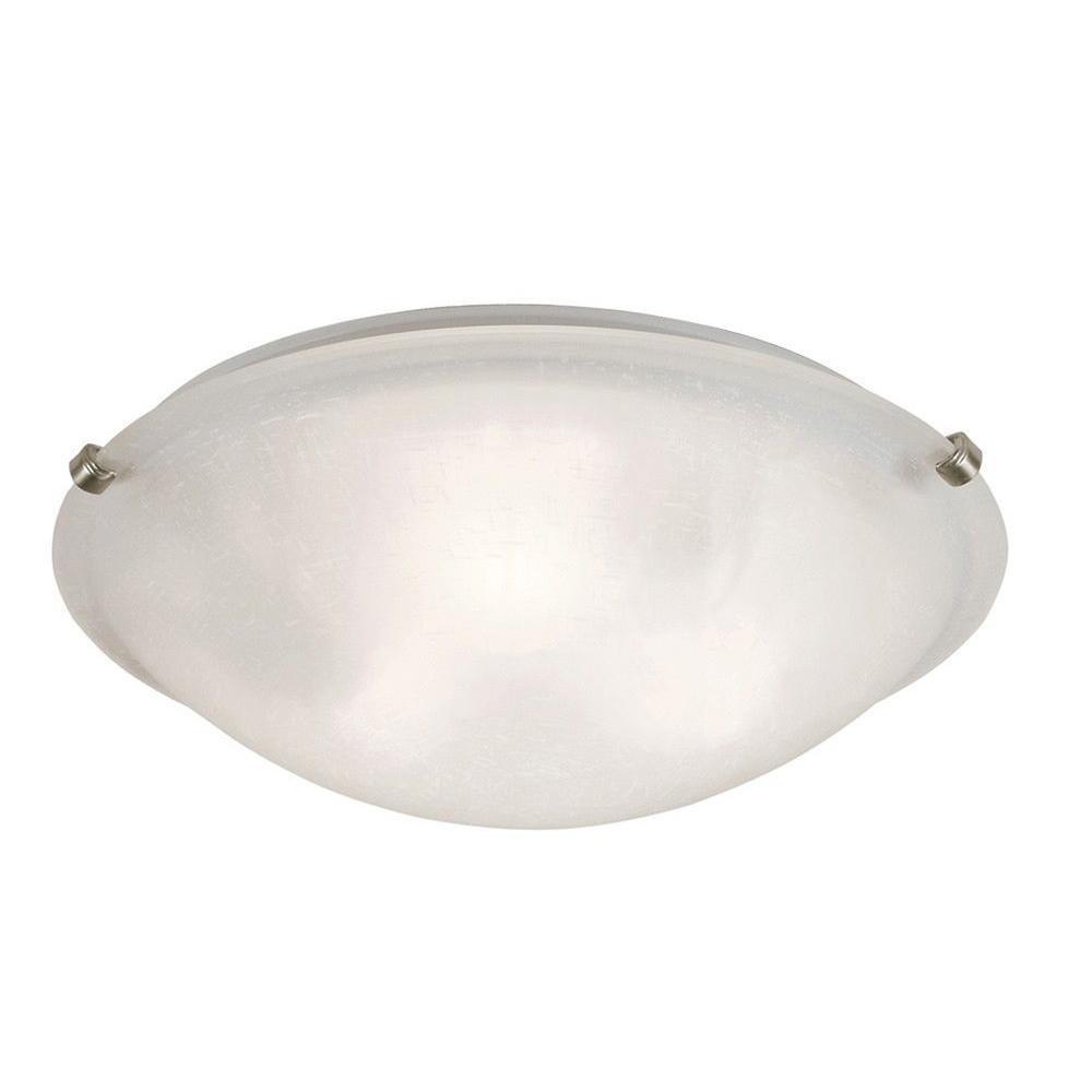 Stewart 3-Light Brushed Nickel Incandescent Ceiling Flushmount