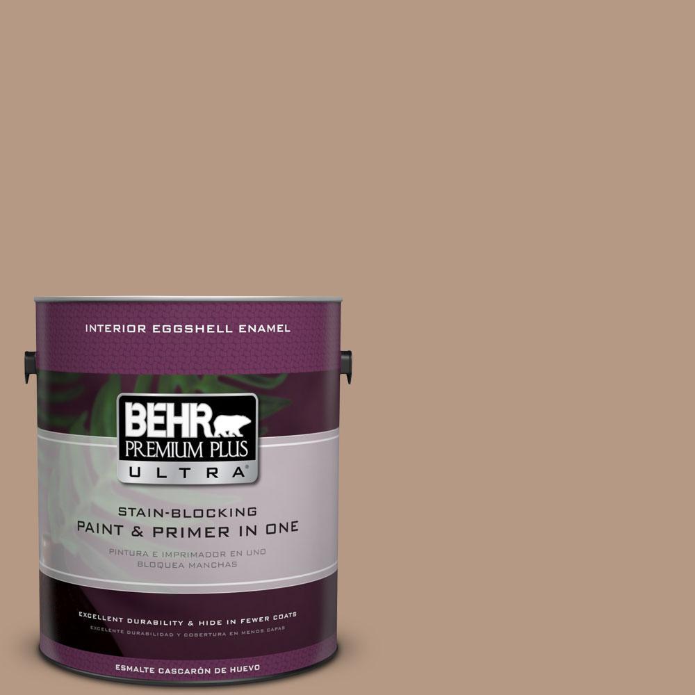 1 gal. #250F-4 Stone Brown Eggshell Enamel Interior Paint