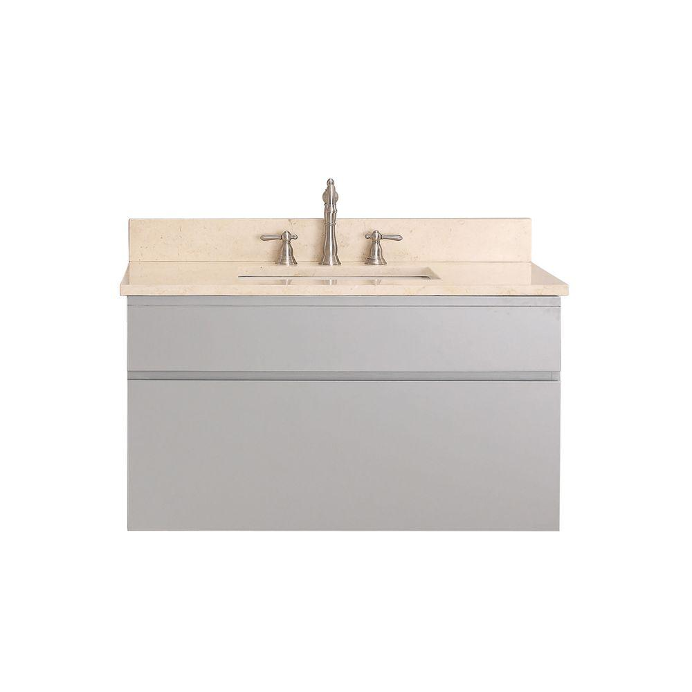 Home Decorators Collection Brexley 37 In Vanity In Warm Chestnut With Marble Vanity Top In
