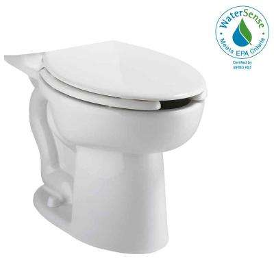 Cadet EverClean Right Height Elongated Pressure-Assisted Toilet Bowl Only in White