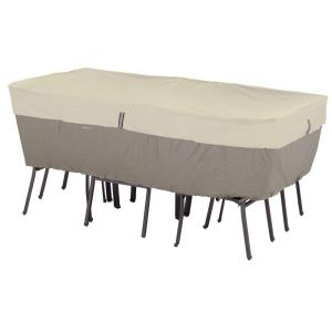 Belltown Medium Sidewalk Grey Rectangle Oval Table And Patio Chair Set Cover