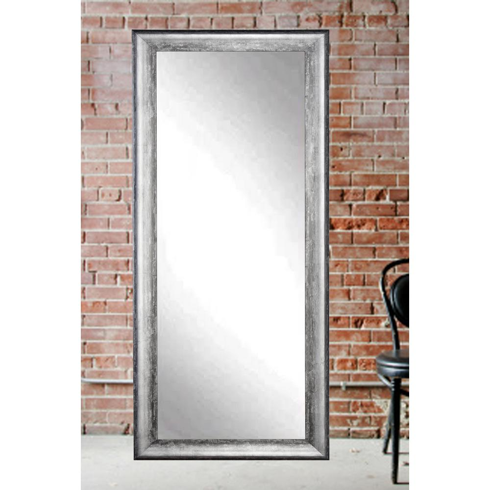 Midnight Silver Decorative Floor Mirror-BM039TS - The Home Depot