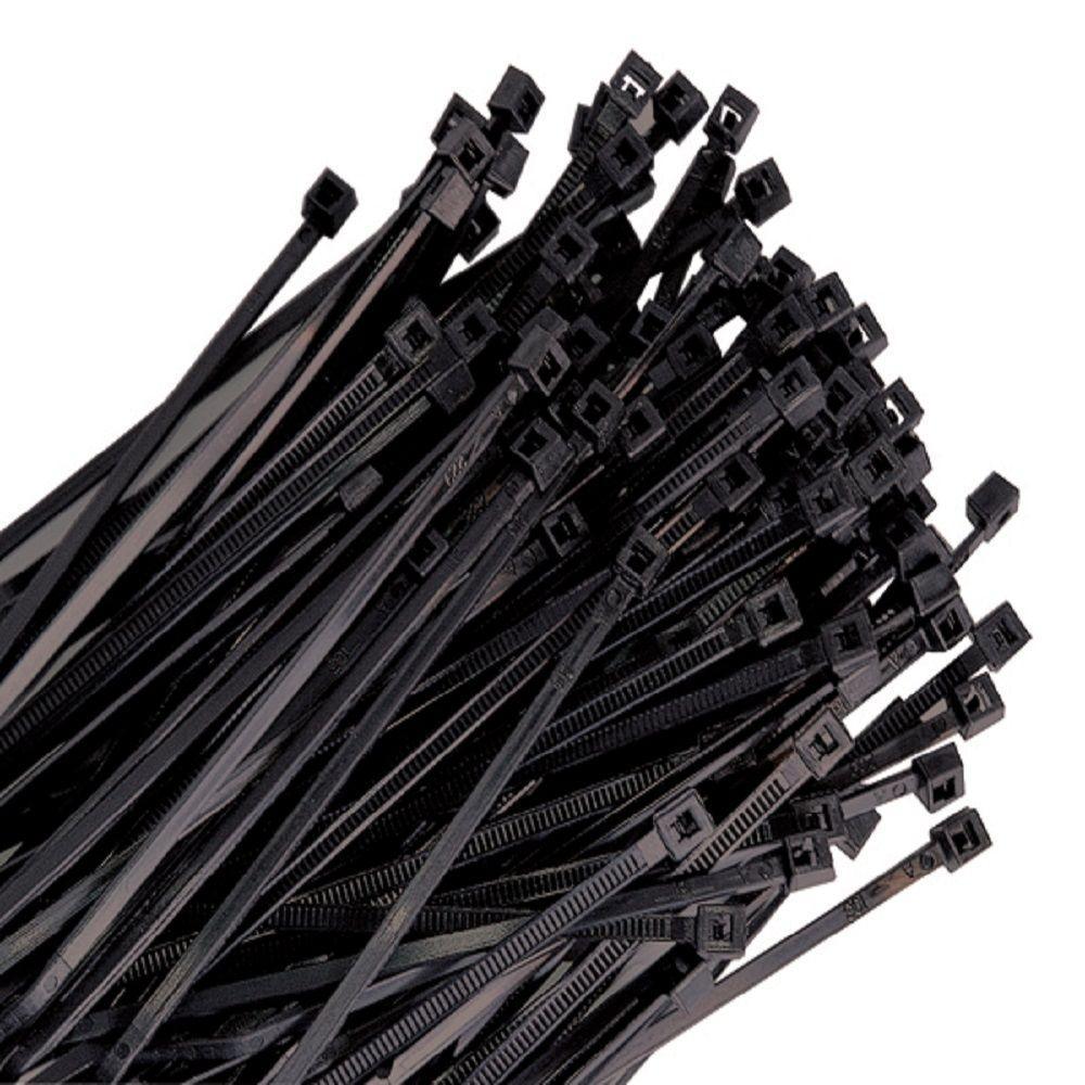4 in. Black Nylon Wire Tie, 18 lb. Tensile (100-Pack)