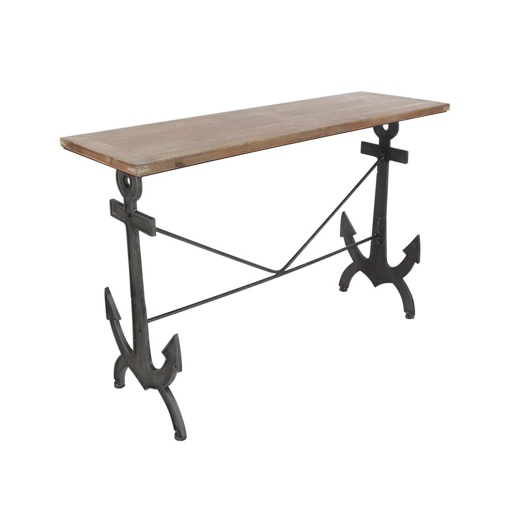 Null Natural Brown Anchor Console Table