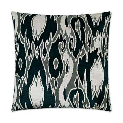 Maldives Domino Feather Down 24 in. x 24 in. Standard Decorative Throw Pillow