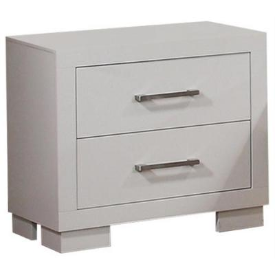 2-Drawer White Jessica Nightstand