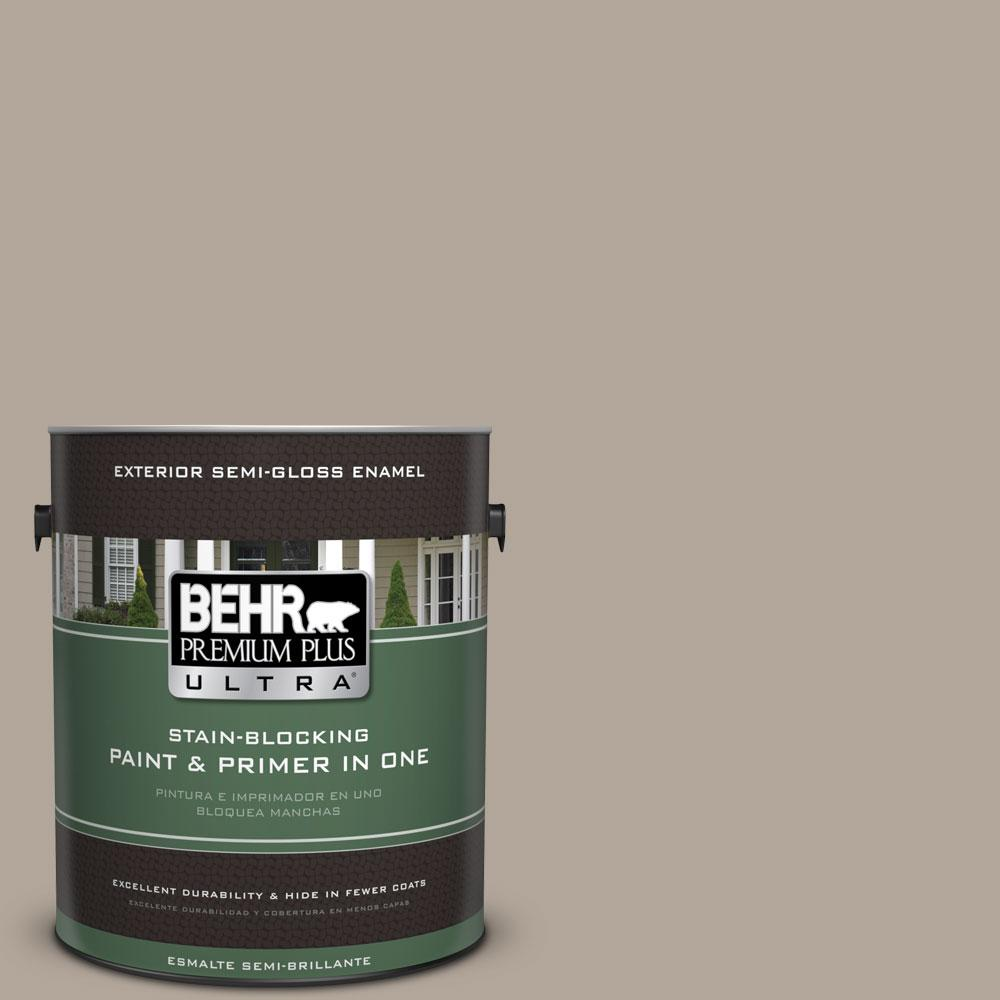 BEHR Premium Plus Ultra 1-gal. #ECC-45-1 Deer Run Semi-Gloss Enamel Exterior Paint