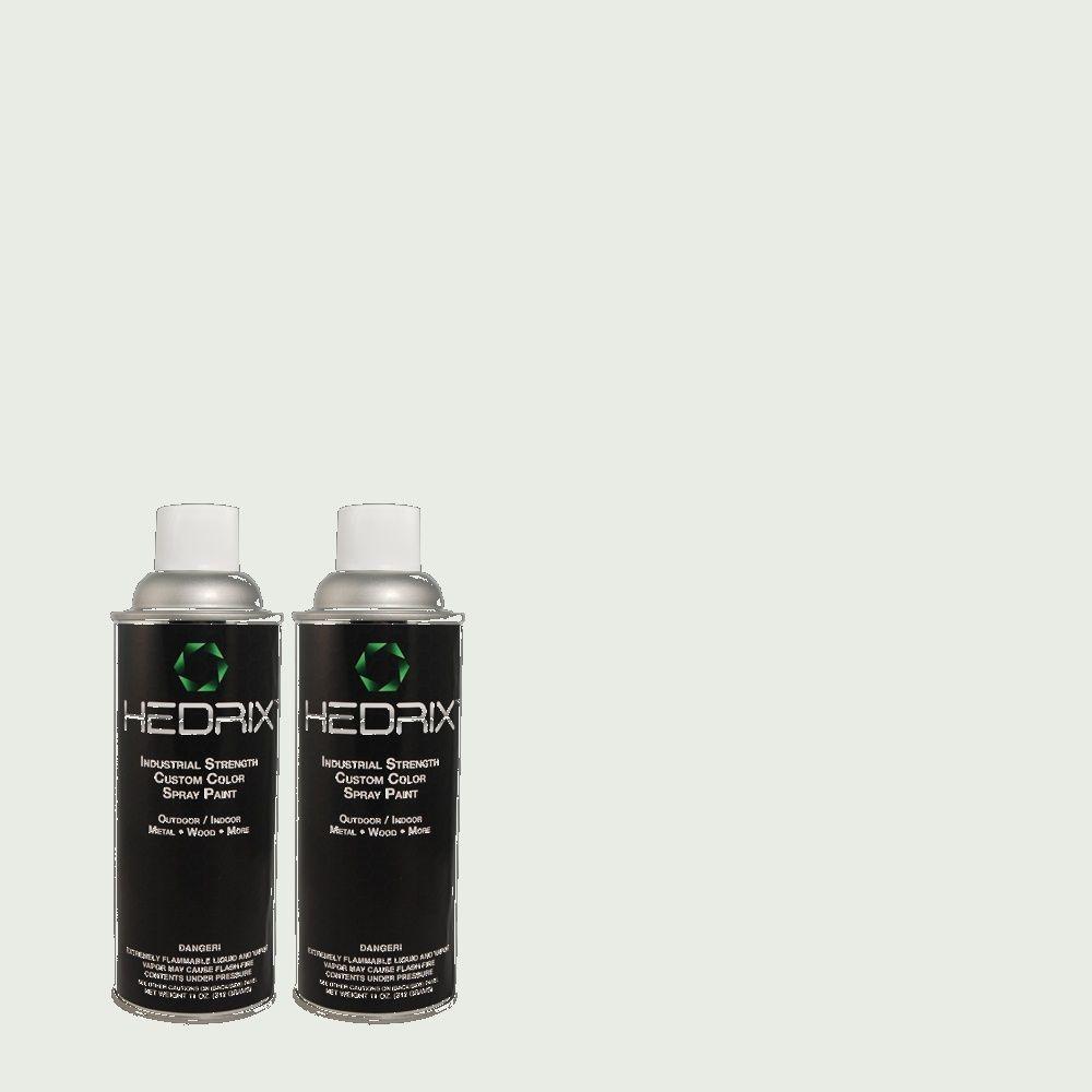 Hedrix 11 oz. Match of 490E-1 Glimmer Flat Custom Spray Paint (2-Pack)