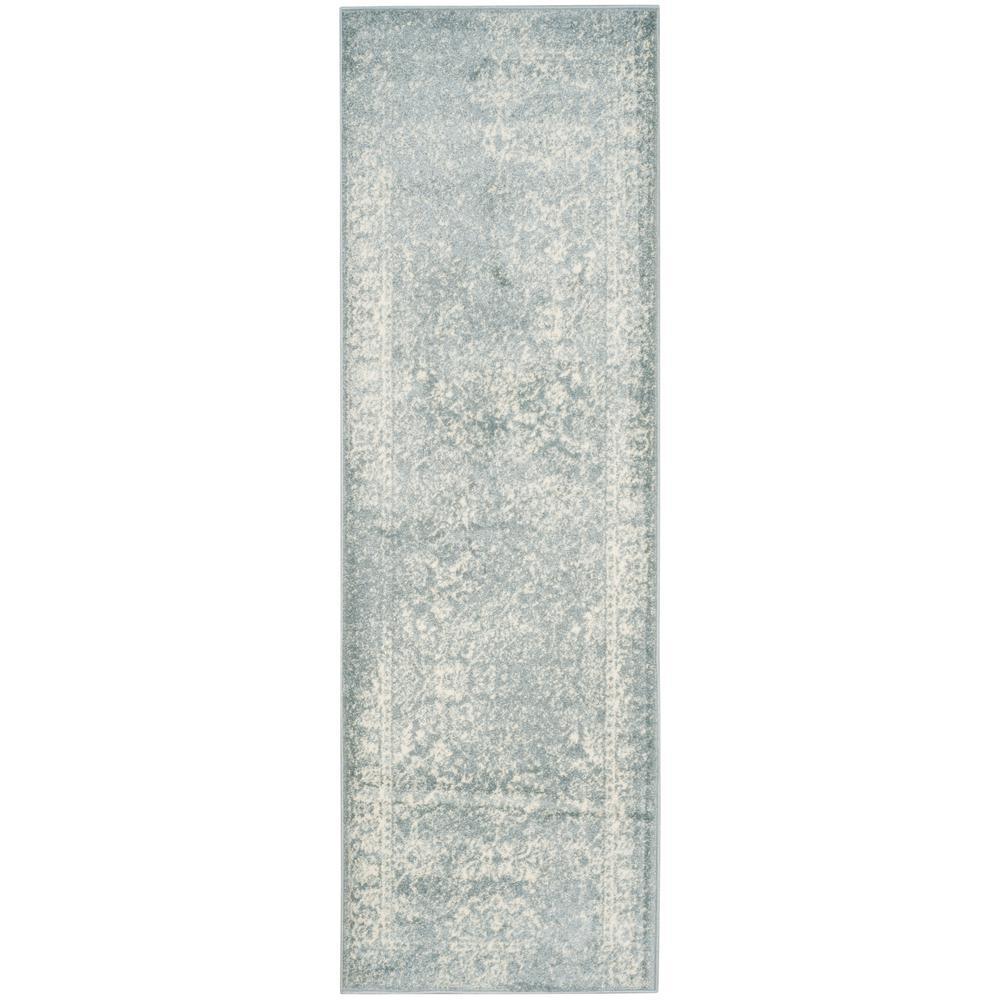 Adirondack Slate/Ivory 3 ft. x 10 ft. Runner Rug