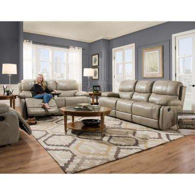 Austin 2 Piece Gray Living Room Set