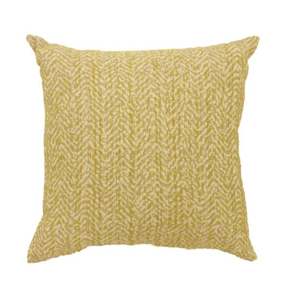 Gail 18 in. Contemporary Throw Pillow in Yellow (Pack of 2)