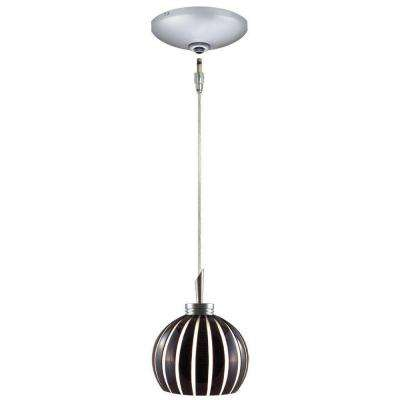 Low Voltage Quick Adapt 4-5/8 in. x 101-7/8 in. Black/White Pendant and Canopy Kit