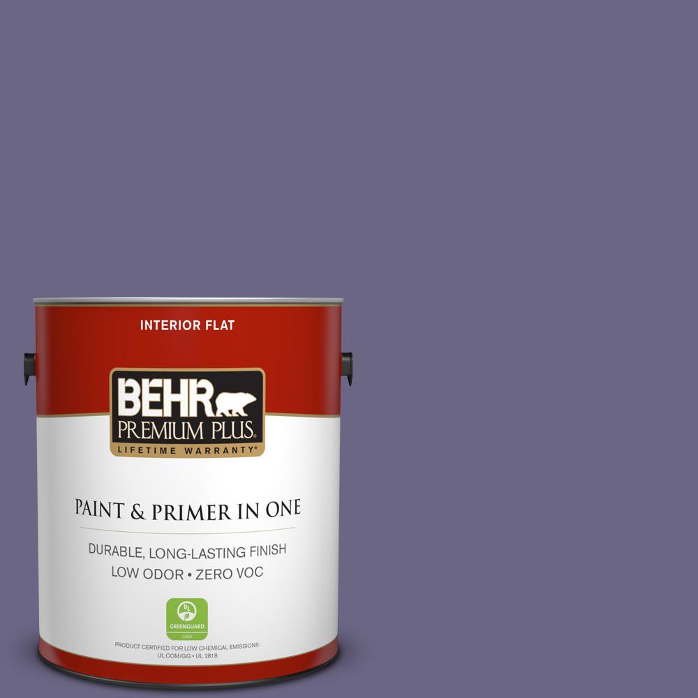 1 gal. #PPU16-18 Hyacinth Arbor Zero VOC Flat Interior Paint