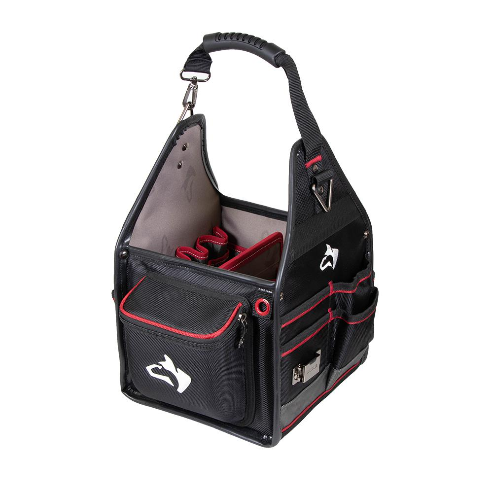 Husky Electrician Tool Bag 10 in Removable Tool Wall 5-Feet Water-Resistant