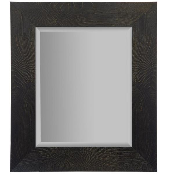 Medium Rectangle Black And Bronze Beveled Glass Contemporary Mirror (24 in. H x 70 in. W)