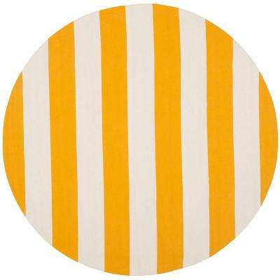 montauk yellowivory 8 ft x 8 ft round area rug