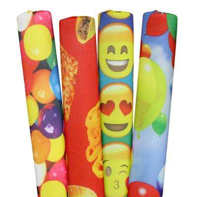 Emojis, Gumballs, Foods and Balloons Pool Noodles (6-Pack)