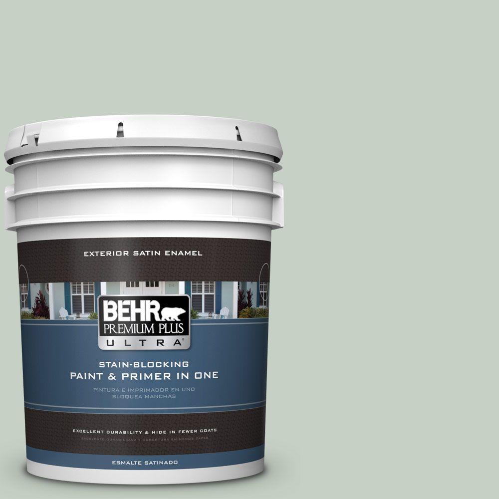 BEHR Premium Plus Ultra 5-gal. #N400-2 Frosted Sage Satin Enamel Exterior Paint