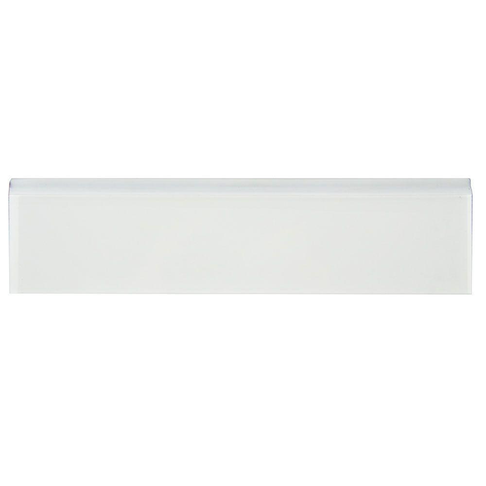 Merola Tile Dunas Blanco 2 in. x 7-7/8 in. Ceramic Bullnose Wall Tile