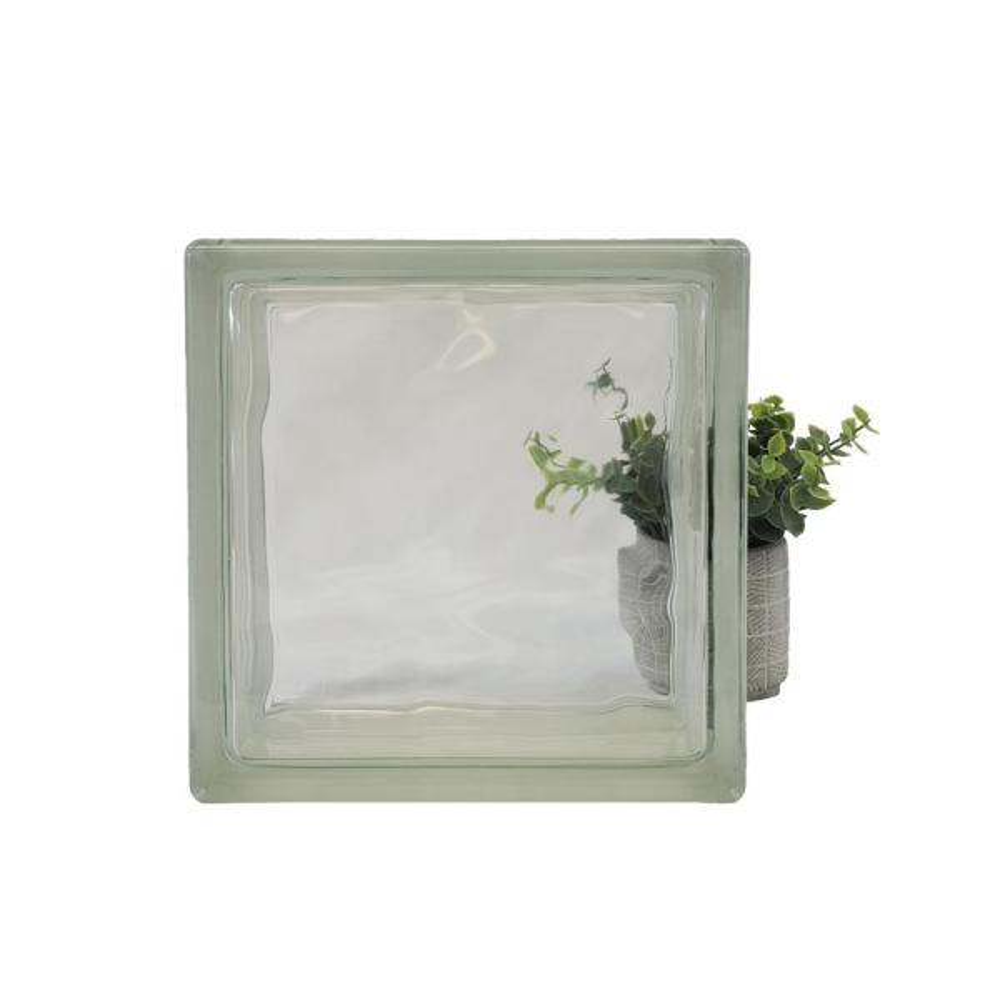X 11.75 In 11.75 In X 3.875 In Cross Ribbed Pattern Glass Block 3-Pack