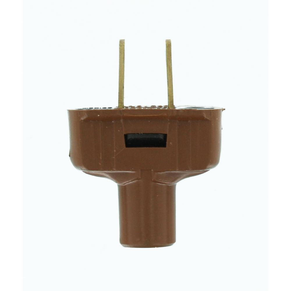 15 Amp 125-Volt Flat Plug, Brown