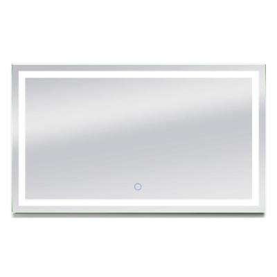Edison 60 in. W x 35 in. H LED Single Wall Mounted Backlit Vanity Bathroom LED Mirror with Touch On/Off Dimmer