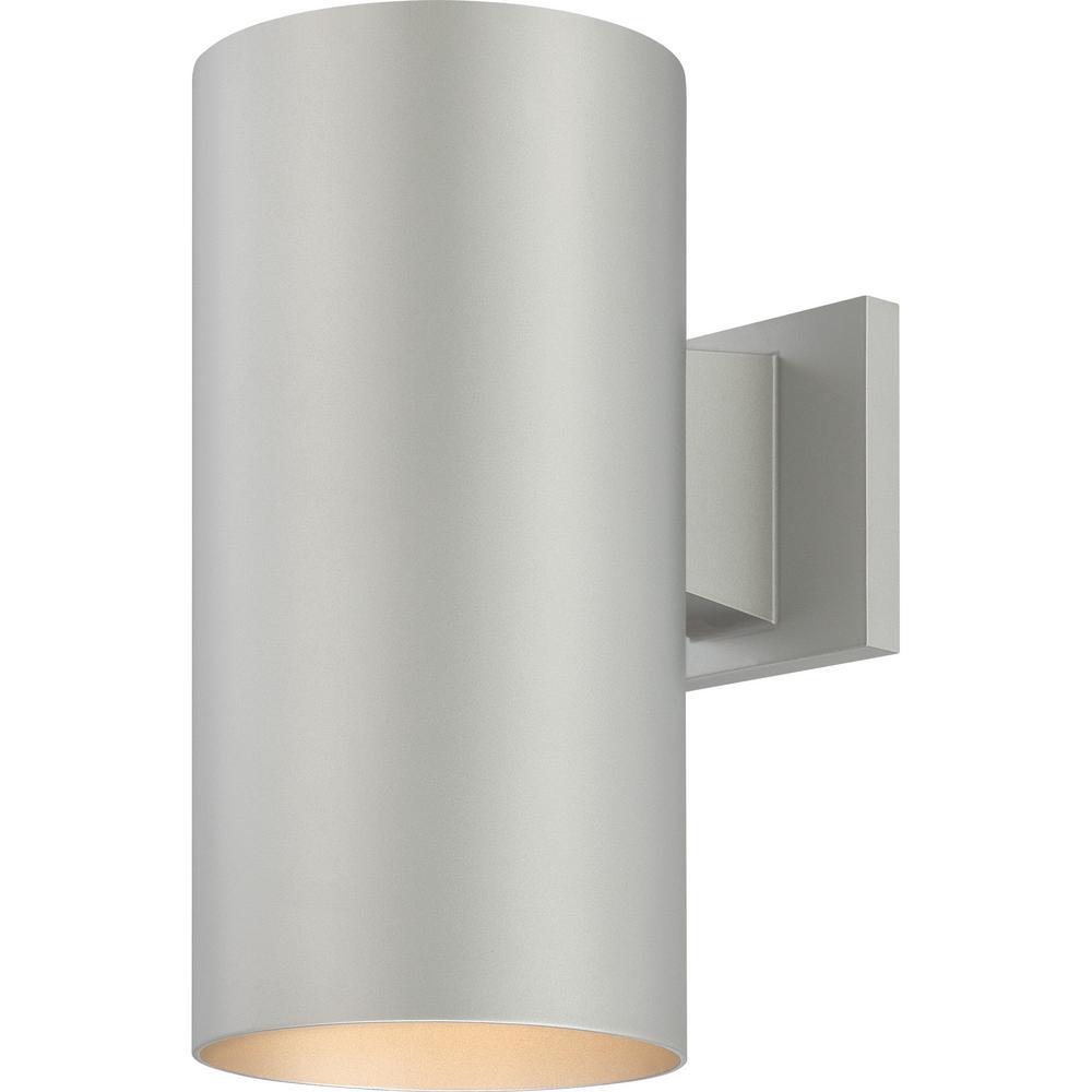 Volume Lighting Medium 1 Light Silver, Modern Outdoor Wall Lights Silver